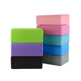 Black Blocks UK - 6 Colors Yoga Blocks Bricks Foaming Foam Home Exercise Fitness Health Gym Practice Tool 23*15*8