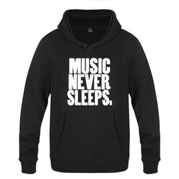 $enCountryForm.capitalKeyWord UK - Music Never Sleeps Funny Creative Sweatshirts Men Nice Mens Hooded Fleece Pullover Hoodies