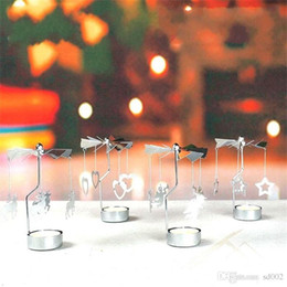 Wholesale Thermal Rotation Candle Holder Transport Windmill Candlestick nice Metal Rotate Candler Originality Snowflake Pure Color Hot Sale 6 4kmE1