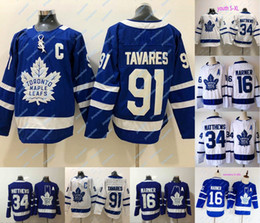 kids maple leaf jersey NZ - New 91 John Tavares Captain C Patch Toronto Maple Leafs Jersey 16 Mitch Marner 34 Auston Matthews Mens Womens Youth Kids Hockey Jerseys