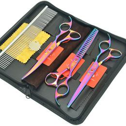"$enCountryForm.capitalKeyWord NZ - Meisha 7.0"" Dog Hair Straight & Curved Cutting Shears Fish Bone Thinning Tesouras Puppy Grooming Scissors Comb Bag Kits HB0224"
