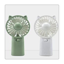 coolest gadgets Australia - Portable Small Fan Cool Handle Fans Plac e On Desktop Mini Gadget Charging Electric Handheld Fan for Home Office Gifts