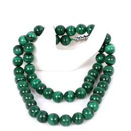 Malachite beads pendants online shopping - Drop Shipping Natural Genuine Malachite Hand Carved Round Bead Pendant Lucky Blessing Couples Necklace Pendant Beautiful Gift
