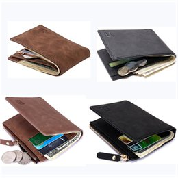 Discount american wallets - New Fashion Men Bifold 2 Fold Wallet 4 Style Optional Quality Pu Leather Designer Card Holder Purse Wallet with Coin Pkt