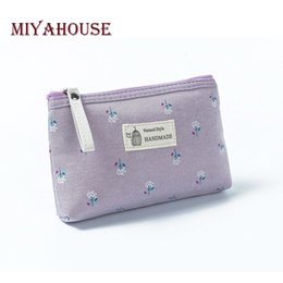 $enCountryForm.capitalKeyWord Australia - Miyahouse Hot Sale Canvas Floral Printed Make Up Female Small Zipper Cosmetic Bag Women Travel Toiletry Bag