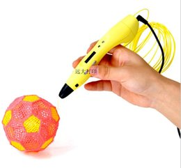 kids 3d drawing pens UK - Free Shipping Kids Birthday Gift Toy 3D Drawing Pen With OLED Screen Free PLA Filament