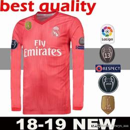 597c622d4fe Custom 18 19 Real Madrid Long Sleeve Soccer Jerseys Sergio Ramos Kroos Bale  Marcelo Asensio Isco Modric 2018 2019 Football Shirt