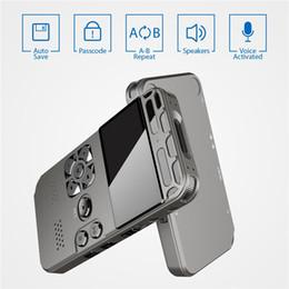 venda por atacado Profissional Digital HD Voice Recorder Um botão Gravar Noise Reducation gravador USB recarregável 8GB 16GB 32GB Grande Capacidade Recorder
