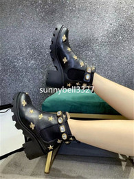 motorcycle chain belts Australia - 2019 Female Martin Boots With Box Women's Trip Embroidered Leather Ankle Boot With Belt Boots And Booties For Women Shoes 2GG4S1