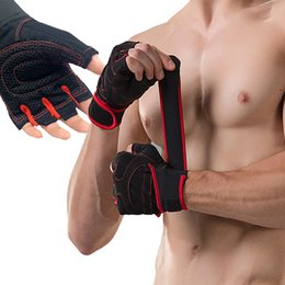 belt man lift 2019 - With Belt Body Building Fitness Gym Gloves Crossfit Weight Lifting Gloves For Men Musculation Women Anti-slip Barbell Du
