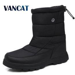 $enCountryForm.capitalKeyWord NZ - Vancat 2019 New Fashion Warm Men Boots Waterproof Snow Boots Non-slip Fur Plush Ankle Winter Sneakers Plus Size 38-46