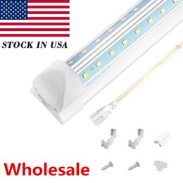 $enCountryForm.capitalKeyWord NZ - V Shaped 4ft 5ft 6ft 8ft Cooler Door Led Tube T8 Integrated Double Sides Led shop Lights fixture 50w led fluorescent bulbs lamp