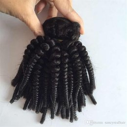 $enCountryForm.capitalKeyWord Australia - Brazilian Human Hair Weaves Aunty Funmi Tight Kinky Curly Virgin Hair Extensions Funmi wave & Natural Black Color