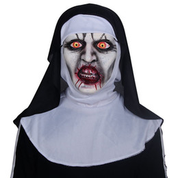 Latex Woman Costume Australia - The Nun Cosplay Mask Costume Latex Prop Helmet Valak Halloween Scary Horror Conjuring Scary Toys Party Costume Props Wholesale-retail