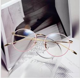 Woman Fans Australia - New Blu-ray Protective Eyeglasses Literary Fan Retro-archaic Circular Ultra-light Glass Frame Can be Matched with Myopia Eyeglasses
