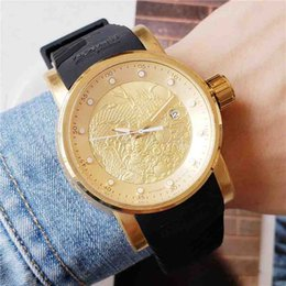 Dropshipping 2020 the new style High quality Premium Gold Automatic mechanical watches 44mm black rubber Sport wristwatch VT24 Montre Homme