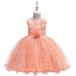 Photos birthday online shopping - Princess Flower Girls Dresses Sleevless Summer Baby Kids Toddler Dresses for Wedding Birthday Party Little Girls Tutu Clothing