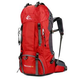 Опт Большая емкость плеча 60L рюкзак туризм сумка на открытом воздухе альпинизм сумка с защитой от дождя прочная практика унисекс мода для женщин мужчин