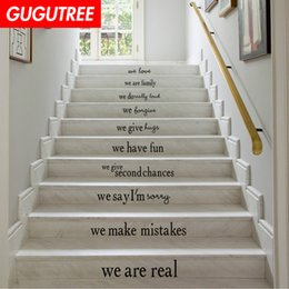 small wood house NZ - Decorate Home 3D house rules cartoon art wall Stair sticker decoration Decals mural painting Removable Decor Wallpaper G-642
