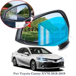 2pcs Car Rearview Mirror Waterproof And Anti-fog Film For Toyota Rav4 C-hr Corolla Crown Reiz Prius Corolla Vios Land Cruiser Car Tax Disc Holders Automobiles & Motorcycles