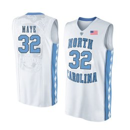 d94095daa742 Luke Maye Stitched North Carolina Tar Heels Nate Britt Lennie Rosenbluth  Sterling Manley Men s White College Jersey