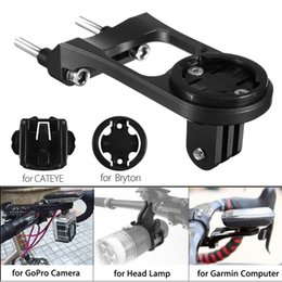 $enCountryForm.capitalKeyWord NZ - Bike Bicycle Stem Extension Computer Mount Holder For GoPro for GARMIN Camera Road Mountain Bike Phone Stand +Adapter #567669
