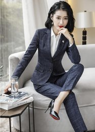 $enCountryForm.capitalKeyWord Australia - High Quality Fabric Formal Blazers Women Business Suits With Jackets and Pants Uniform Styles Ladies Work Wear Pants