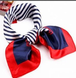 Small Scarf korean online shopping - Korean Version of The Decorative Satin Simulation Silk Small Square Scarf Scarves Square Scarf