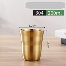 Wholesale new rose gold stainless steel cup cold beer mug tumbler Bar Restaurant drinking beer cups ml dinner coffee mugs outdoor travel kids flask