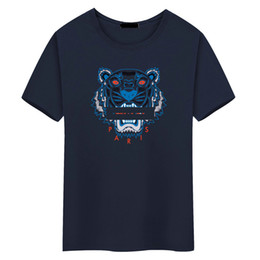 Chinese  new brand fashion luxury designer t shirts Tiger head for mens tshirt women t shirt men's clothes Breathable clothing Tiger head t-shirt manufacturers