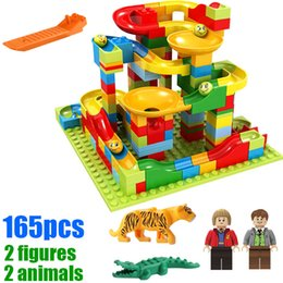 Marble Building Blocks Australia - 165pcs with gifts Small Size Marble Run Set Puzzle Maze Race Track Game Toy Roller Coaster Construction Building Block Brick Toy