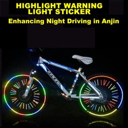 26 sticker UK - Strong Reflective Durable Strong Mountain Bike Reflective Safety Warning Motorcycle Body Fluorescent Luminous Stickers