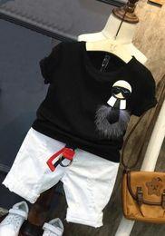 $enCountryForm.capitalKeyWord Australia - hot sale summer clothing sets kids White cartoon T-shirt + jeans for boys 2pcs sets kids clothes children tracksuit