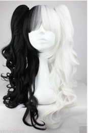 $enCountryForm.capitalKeyWord NZ - FREE SHIPPING +++ Black and White Pigtails Pony Tails Adult Wig