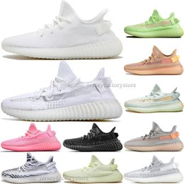 Discount kanye west shoes online shopping - Discount Kanye West Clay V2 Static Reflective GID Glow In The Dark Mens Running Shoes True Form Women Men Sports Designer Sneakers EUR