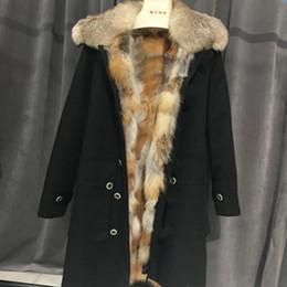 $enCountryForm.capitalKeyWord NZ - Natural Fox Fur Liner Winter Jacket Women Womens Down Coats Army Green Black Parka Large Real Raccoon Fur Collar Free Dhl