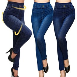 yoga pants xxl Australia - Women Jeans Elastic Shaping Yoga Pants Fitness Sports Leggings High Waist Gym Workout Running Tights Slim Push Up Autumn Winter