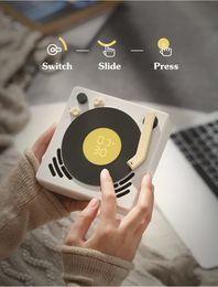 Turntable Player Australia - 2019 popular new Phonograph mini Retro Design Bluetooth speaker Jukebox Alarm Clock sleep timer turntable Suspenable caixa de som portatil