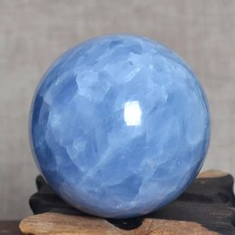 Glossy Ball Australia - 80mm natural blue celestine Crystal Sphere Ball from Madagascar for sale