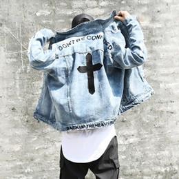 $enCountryForm.capitalKeyWord Australia - Don't be confuse Cross embroidery HIGH STREET jacket men cool BF style zipper sleeve hold men boys oversize outwear coats L156