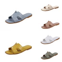 korean leather slippers NZ - Girls' Slippers Summer 2020 New Fashion Korean Version Little Girls' Shoes H Shoes Big H Princess#429