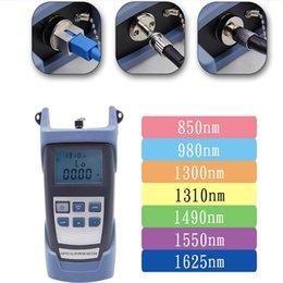 Fc Sc NZ - 2PCS free shippingg fiber optic power meter -70+3db 850~1625nm SC FC adapter