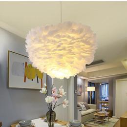 $enCountryForm.capitalKeyWord Australia - 40cm Room decoration Romantic LED Stitching chandelier PP Flower Cover Lamp Light DIY Lotus Shape Fixture Pendent Lampshade