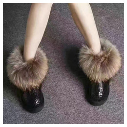 $enCountryForm.capitalKeyWord Australia - Factory direct sales female models fox hair female snow boots thick leather warm popular students students beef tendon The women's