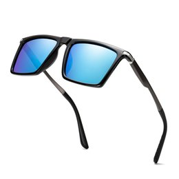 $enCountryForm.capitalKeyWord UK - Al-Mg Temple HD Square Personality Sun Glasses Polarized Mirror Sunglasses Custom Made Myopia Minus Prescription Lens -1To-6