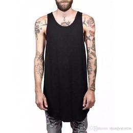 76cadd0782a2c9 Wholesale- Men Summer Hip Hop Extend Long Tank Top Men s White Vest Fashion  Swag Sleeveless Cotton Justin Bieber Solid Tops