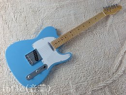 Chinese  Free shipping ! solid body Guitars Telecaster Sky Blue color OEM Retro style Electric Guitar in stock manufacturers