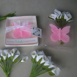 $enCountryForm.capitalKeyWord Australia - Pink Butterfly Wedding Candles Party Decoration Creative Romantic Married Wedding Favors Guest Gifts DHL Free Shipping