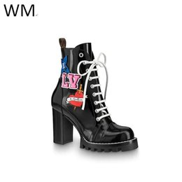 Wholesale Duping520 New High heeled Women s Boots Thick soled High heeled Martin Boots Riding Rain Boot Boots Booties Sneakers Dress Shoes