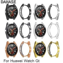 $enCountryForm.capitalKeyWord NZ - New TPU Plating Case for Huawei Watch GT Protective Bumper Frame Soft Silicone Watch Cover for Huawei Smart GT Band